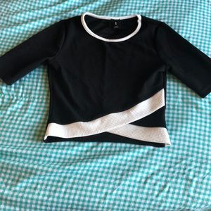 Tops - Black & White Crop Top for Sale‼️